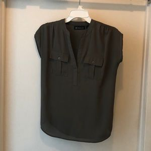 Olive green INC blouse